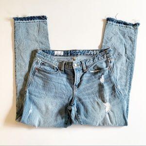 GAP   Real Straight Raw Hem Crop Jeans 27r